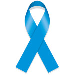 Icon symbol of struggle and awareness, blue ribbon. Ideal for ed